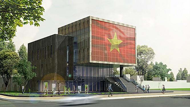Công trình Nhà trưng bày Hoàng Sa đã hoàn thành và dự kiến sẽ khánh thành trong vài ngày tới.