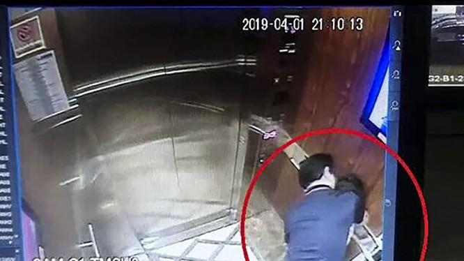 Hình ảnh người đàn ông sàm sỡ bé gái trong thang máy tại TP HCM được cho là ông Nguyễn Hữu Linh-nguyên là Phó Viện trưởng Viện kiểm sát nhân dân TP Đà Nẵng