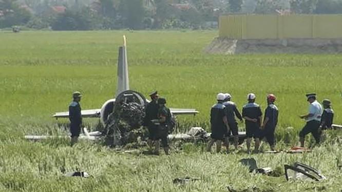 Hiện trường vụ rơi máy bay quân sự (ảnh minh họa)