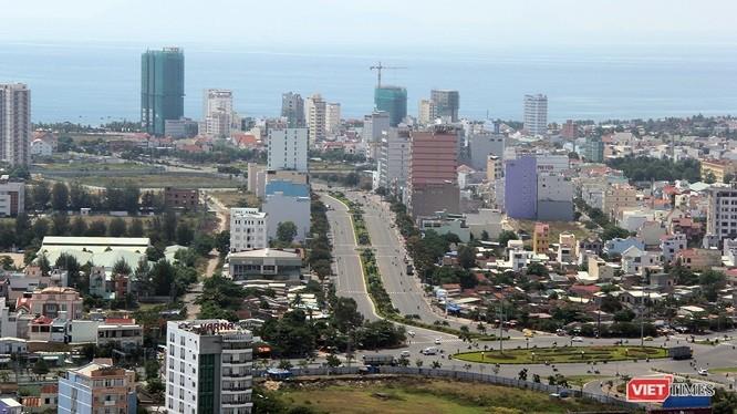 Một góc đô thị Đà Nẵng nhìn từ trên cao