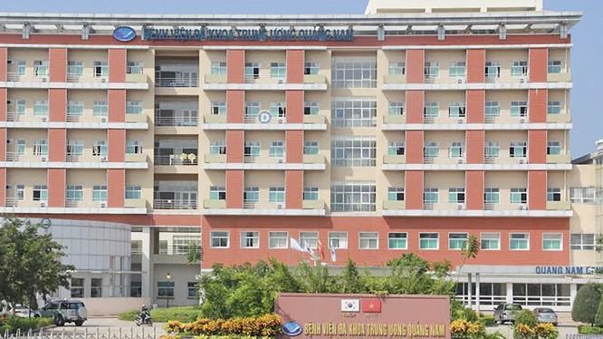 Bệnh viện Trung ương Quảng Nam, nơi bệnh nhân là nữ tiếp viên điều trị do nghi nhiễm virus Cổna (ảnh: HP)