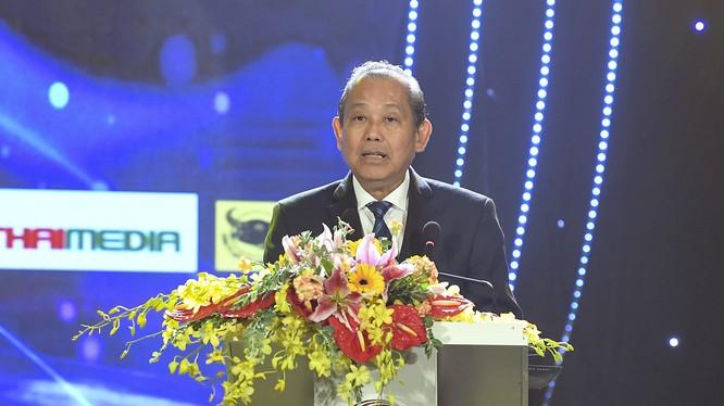 Phó Thủ tướng Thường trực Trương Hòa Bình phát biểu tại lễ khai mạc. Ảnh: VGP/Lê Sơn