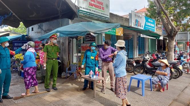 Chợ Hà Thân (quận Sơn Trà, TP Đà Nẵng), nơi bệnh nhân mắc COVID-19 thứ 1017 lui tới.