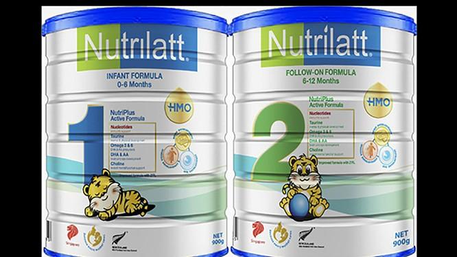 Sản phẩm sữa công thức Nutrilatt 1 và Nutrilatt 2 của Công ty TNHH MS Nutrition Pte (ảnh baohiemxahoi.vn)