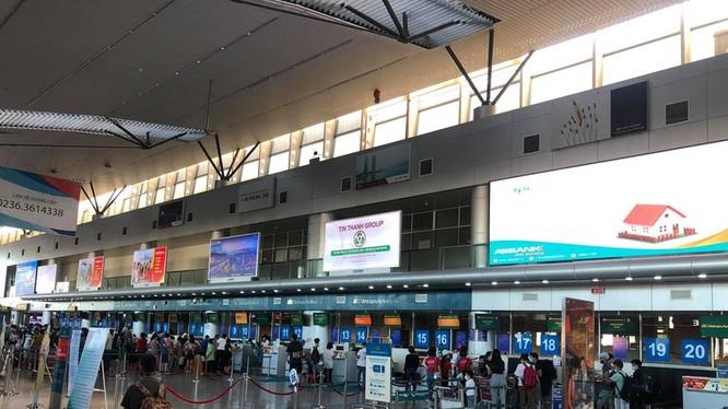 Nhà ga đi sân bay quốc tế Đà Nẵng.