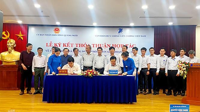 Quang cảnh lễ ký kết (ảnh quangngai.gov.vn)