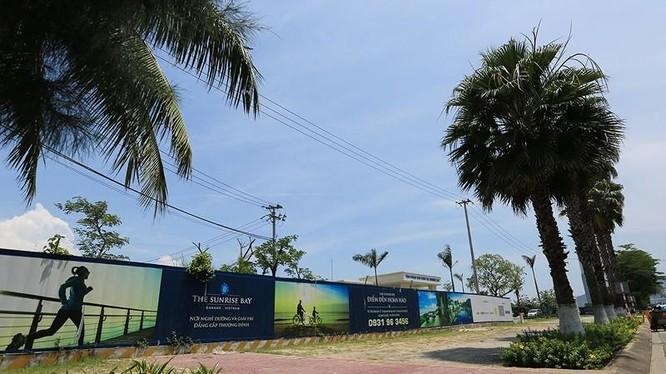 Một góc dự án Khu đô thị quốc tế Đa Phước (trên đường Nguyễn Tất Thánh, Đà Nẵng)