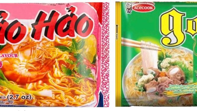 Sản phẩm mì Hảo Hảo và miến Good của Công ty CP Acecook Việt Nam mà Cơ quan An toàn thực phẩm Ireland thông báo thu hồi (Ảnh: FSAI)