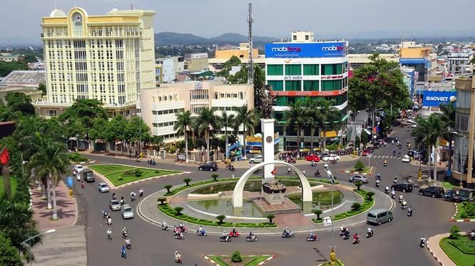 Một góc TP Buôn Ma Thuột, tỉnh Đắk Lắk (Ảnh: Minh Hiển)