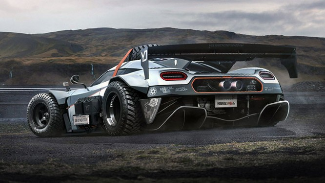 Koenigsegg One:1 phiên bản…off-road (ảnh Top Gear)