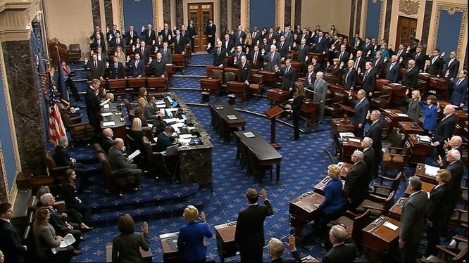 Toàn cảnh phiên bỏ phiếu luận tội tại Thượng viện Mỹ