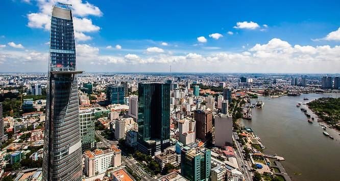 Một góc thành phố Hồ Chí Minh hiện đại