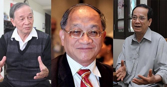 Từ trái qua: Ông Vũ Vinh Phú, TS. Lê Đăng Doanh, TS. Ngô Trí Long
