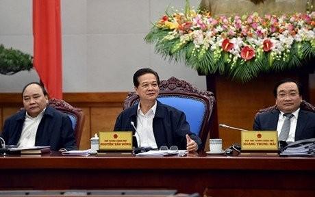 Thủ tướng Nguyễn Tấn Dũng chủ trì phiên họp Chính phủ