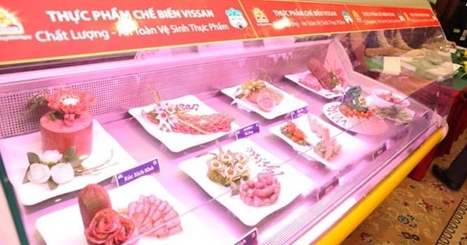 Các sản phẩm thịt bò do Hoàng Anh Gia Lai chăn nuôi và VISSAN phân phối.