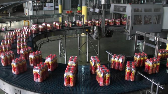 Dây chuyền sản xuất nước giải khát Number One của tập đoàn Tân Hiệp Phát