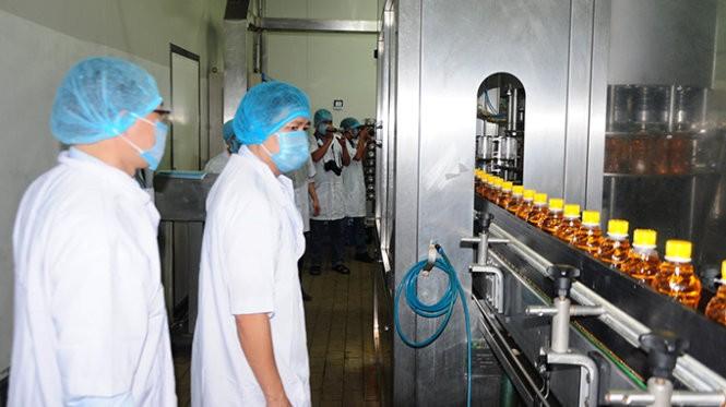 Một dây chuyền sản xuất của công ty Tân Hiệp Phát