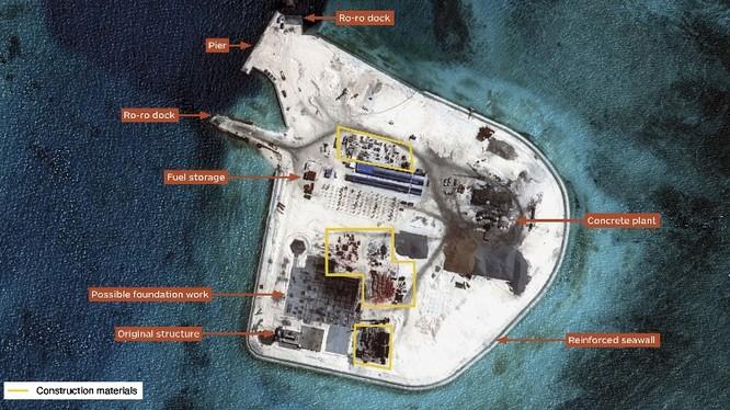 Đảo Gạc Ma được xây dựng thành tiền đồn quân sự