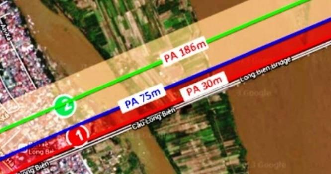 Phối cảnh các phương án xây dựng cầu đường sắt đô thị mới vượt sông Hồng.
