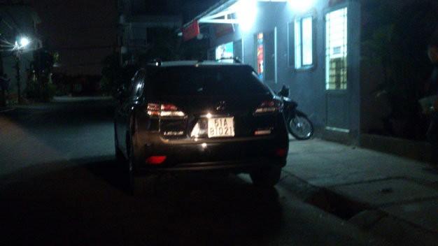 Chiếc xe của ông Hòa tại Công an phường Tân Phong (Q.7)