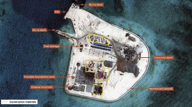 Đảo Gạc Ma đã biến thành một căn cứ quân sự kiên cố ảnh: IHS Janes