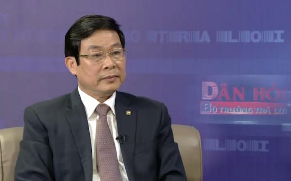 Bộ trưởng Bộ Thông tin và Truyền thông Nguyễn Bắc Son tại chuyên mục Dân hỏi Bộ trưởng trả lời