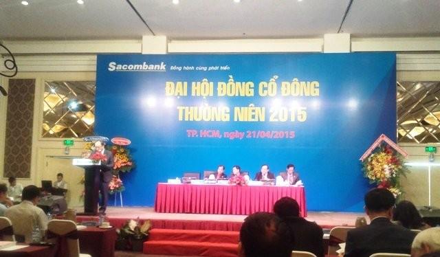 Đại hội đồng cổ đông của Sacombank sáng 21-4, tại TPHCM.