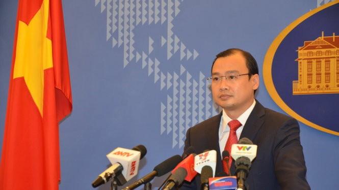 Người phát ngôn Bộ Ngoại giao Việt Nam Lê Hải Bình tại cuộc họp báo thường kỳ ngày 14-5