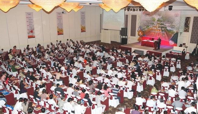 Một đại hội đồng cổ đông của EAB. (Ảnh: website của Ngân hàng Đông Á)
