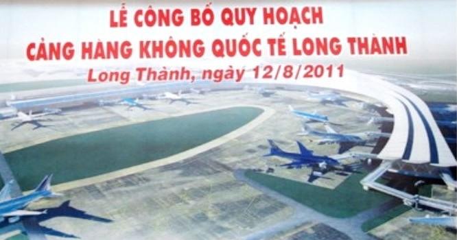 Phối cảnh trong Lễ công bố quy hoạch Cảng hàng không quốc tế Long Thành.