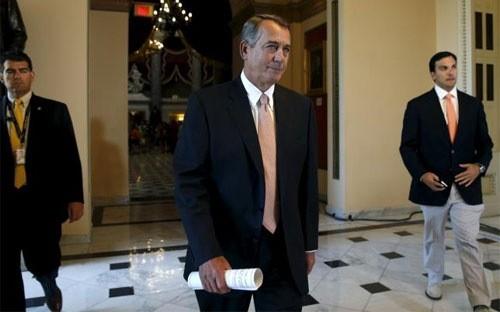 Chủ tịch Hạ viện Mỹ John Bohner - Ảnh: Reuters.