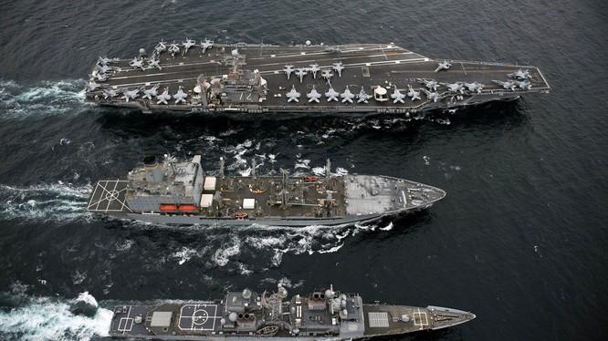 Mỹ hiện sở hữu ít nhất 11 nhóm tác chiến tàu sân bay hùng mạnh trên các đại dương
