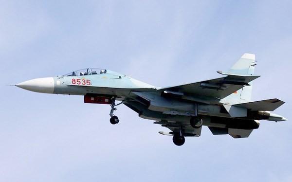 Tiêm kích Su-30MK2 của Không quân Việt Nam. Ảnh: militaryphotos.net
