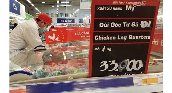 Gà Việt đang chịu lỗ 10.000 đồng một con vì thịt gà nhập quá rẻ