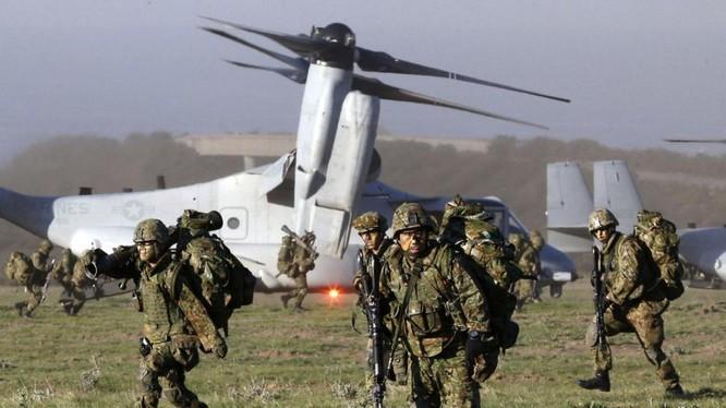 Quân đội Mỹ-Nhật liên tục tập trân chung thời gian gần đây