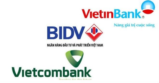 """So găng 3 """"đại gia"""" ngân hàng BIDV, Vietcombank và VietinBank: Ai số 1?"""