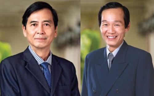 Ông Trần Quốc Hải thay ông Nguyễn Phước Minh (trái) làm Chủ tịch Hội đồng Quản trị Saigonbank.