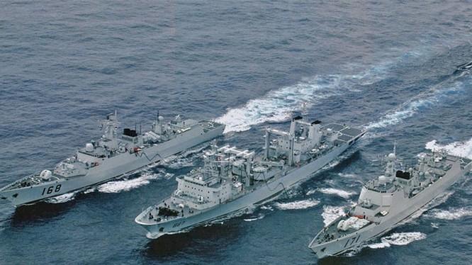 Biên đội tàu Trung Quốc hoạt động ở Ấn Độ Dương