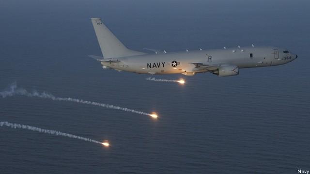 Máy bay săn ngầm tối tân P-8 Poseidon của Mỹ luôn thường trực ở Biển Đông