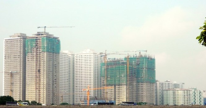 Tổ hợp chung cư ở khu đô thị Linh Đàm (Hoàng Mai, Hà Nội) - Ảnh Vũ Quang