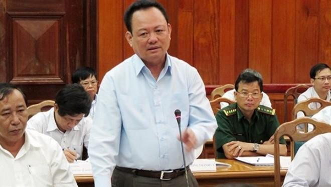 Ông Nguyễn Điểu, Giám đốc Sở TN-MT Đà Nẵng, phát biểu tại hội nghị Thành ủy Đà Nẵng (mở rộng) ngày 24/9 (Ảnh: HC)