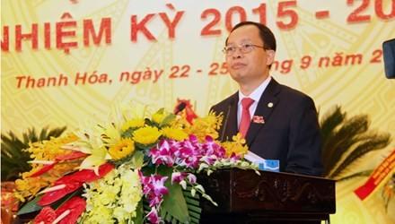 Ông Trịnh Văn Chiến tái đắc cử làm bí thư Tỉnh ủy Thanh Hóa. Ảnh: Hoàng Lam.