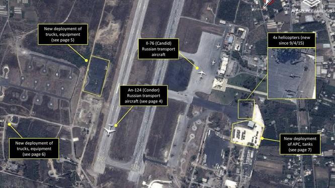 Ảnh vệ tinh cho thấy Nga đã điều các chiến đấu cơ khủng Su-30SM tới Syria