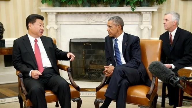 Tổng thống Mỹ Barack Obama tiếp Chủ tịch Trung Quốc Tập Cận Bình tại Nhà Trắng ngày 25.9 - Ảnh: Reuters