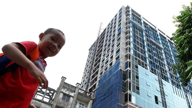 Cao ốc số 8B Lê Trực (Hà Nội) xây vượt 16m so với chiều cao đã được cấp phép - Ảnh: Nguyễn Khánh