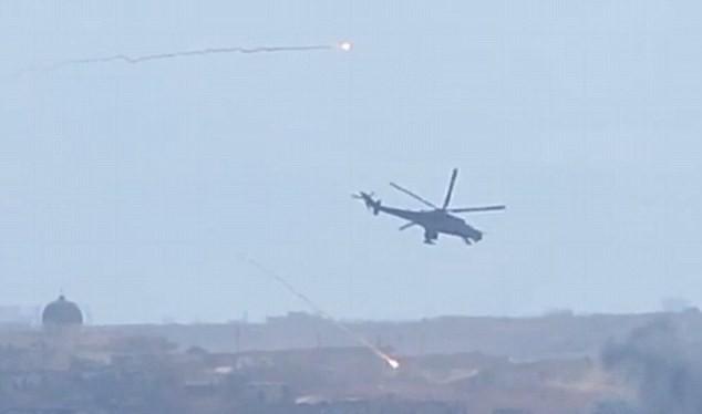 Trực thăng Nga tấn công phiến quân tại Syria ngày 9/10