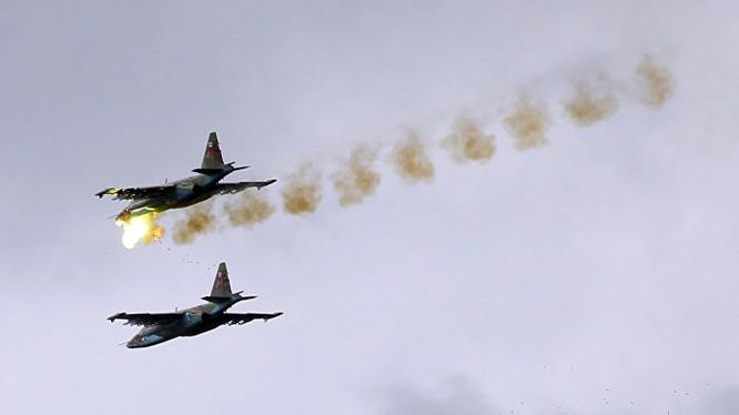 Chiến đấu cơ của Nga trút lửa chết chóc xuống đầu phiến quân ở Syria
