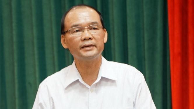 Ông Phan Chu Đức, phó trưởng Ban tổ chức Thành ủy Hà Nội, cho biết nhân sự bí thư Thành ủy Hà Nội sẽ do Bộ Chính trị trực tiếp quyết định - Ảnh: X.L