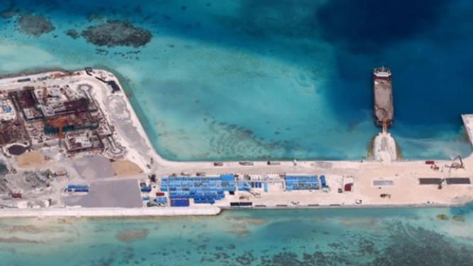 Đảo nhân tạo Trung Quốc xây dựng trái phép ở quần đảo Trường Sa