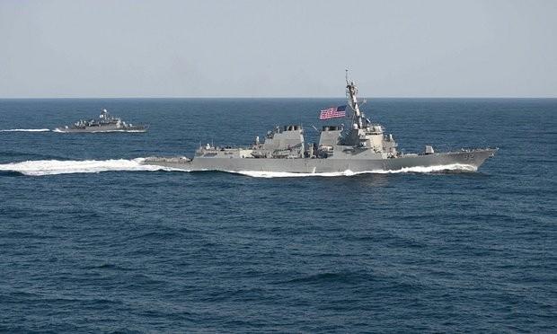 Tàu khu trục USS Lassen - Ảnh:Reuters